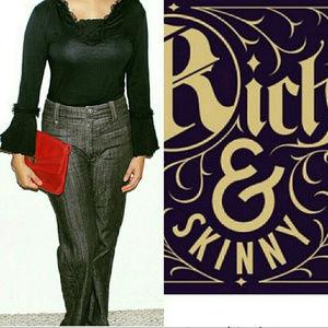 Rich & Skinny Wide Leg Jeans Dark Rinse